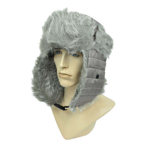 Aviator Faux Fur Winter Brown Pilot Hat Cap Ski Trooper Bubbly Ear Flap Blank