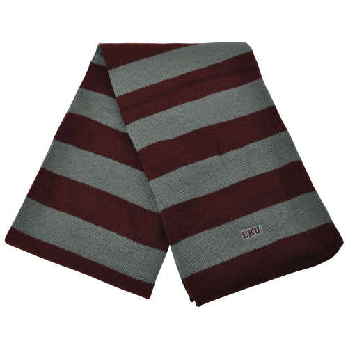 NCAA American Needle Eastern Kentucky Colonels Women Ladies Striped Scarf Maroon