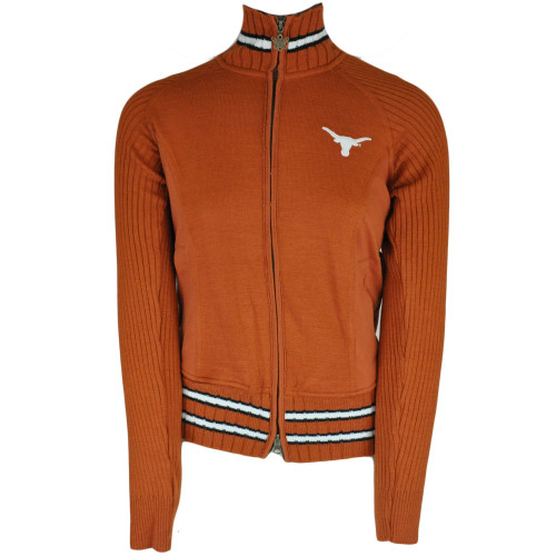 NCAA Alyssa Milano Texas Longhorns Womens Full Zip Sweater Jacket Touch