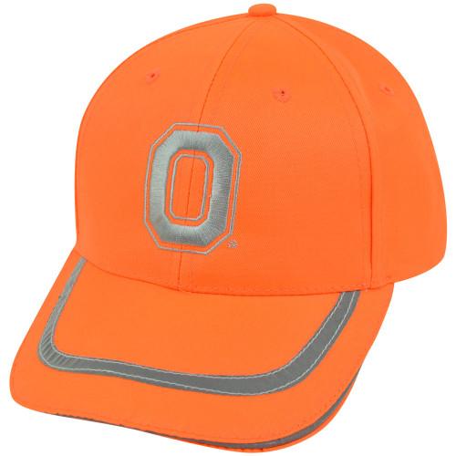 sports shoes 9ba1b 3a189 NCAA Ohio State Buckeyes Neon Orange Reflective Adjustable Velcro Bright Hat  Cap