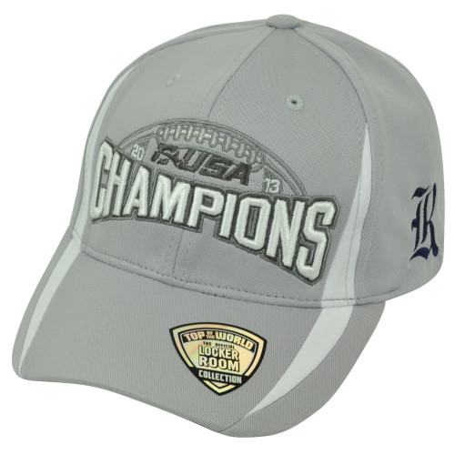buy online add43 60bbb NCAA Rice Owls 2013 C-USA Football Champions Velcro Top of the World Hat Cap