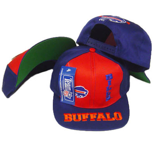 56d580501 NFL BUFFALO BILLS FLAT BILL SNAP BACK OLD SCHOOL HAT