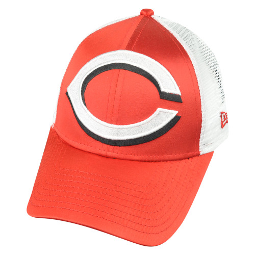 MLB New Era 9Forty Cincinnati Reds Satin Chic Mesh Women Ladies Velcro Hat Cap