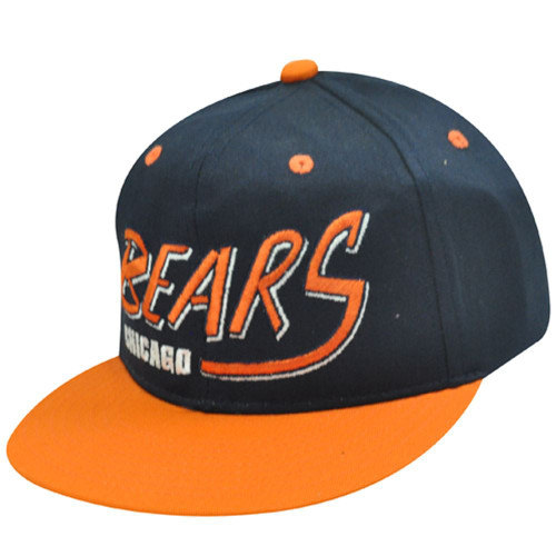 NFL CHICAGO BEARS ORANGE OLD SCHOOL SNAPBACK CAP HAT