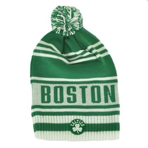 NBA Adidas Boston Celtics KF09Z Green Cuffless Skully Pom Knit Beanie Toque Hat