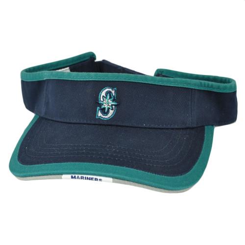 MLB Seattle Mariners Sun Visor Hat Baseball Velcro Navy Blue American Needle