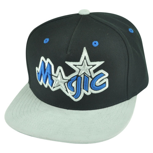 NBA Mitchell Ness Orlando Magic NT54 Grey Cord Visor Strapback Buckle Hat Cap