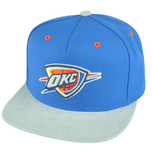 NBA Mitchell Ness Oklahoma City Thunder NT56 Grey Cord Visor Strapback Hat Cap