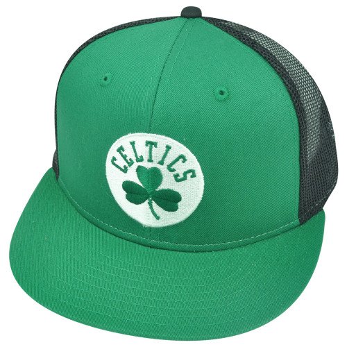 NBA Boston Celtics Mesh Snapback Flat Bill Two Tone Hat Cap Bundagen Basketball