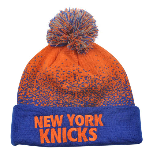 NBA Mitchell Ness Title Knit KM11 Cuffed Pom Pom Beanie New York Knicks HWC