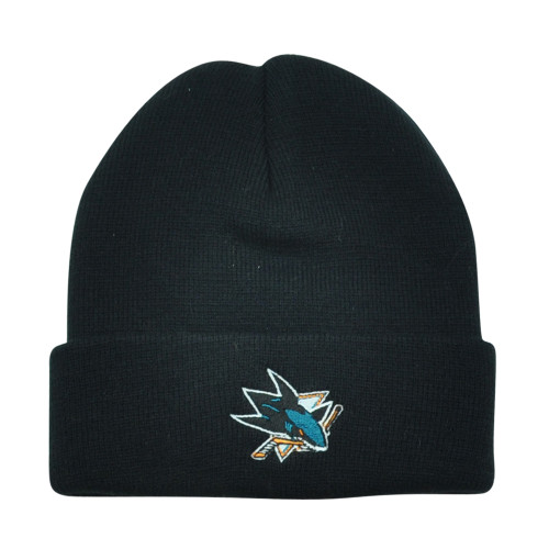 NHL San Jose Sharks Milpitas Cuffed Black Knit Beanie Toque Hockey Winter Hat