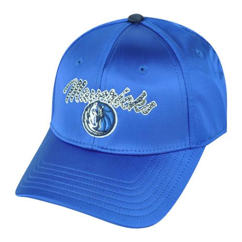 NBA Dallas Mavericks Mavs Women Ladies Satin Patricia Buckle Rhinestone Hat Cap