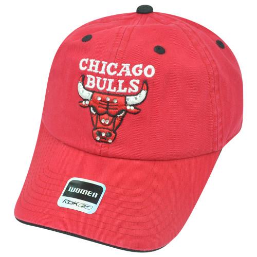 NBA Adidas Chicago Bulls Women Rhinestone Relaxed Hat Cap Sun Buckle Superstar