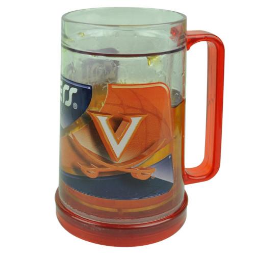NCAA Virginia Cavaliers Color Freezer Mug Crushed Ice 16oz Drinks Beers Cup