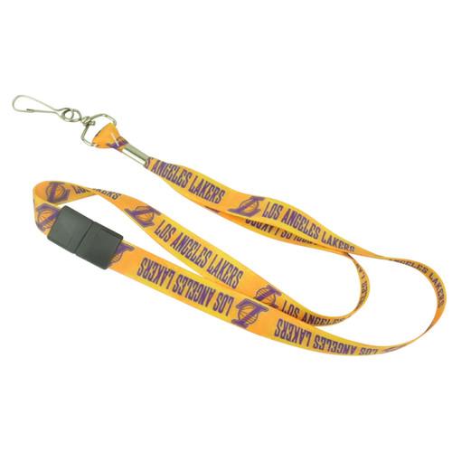 NBA Los Angeles Lakers Metal Key Chain Landyard ID Badge Holder Detachable Clip