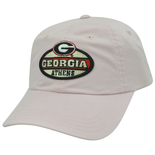 NCAA Georgia Bulldogs Ladies Women Felt Patch Garment Wash Sun Buckle Hat Cap