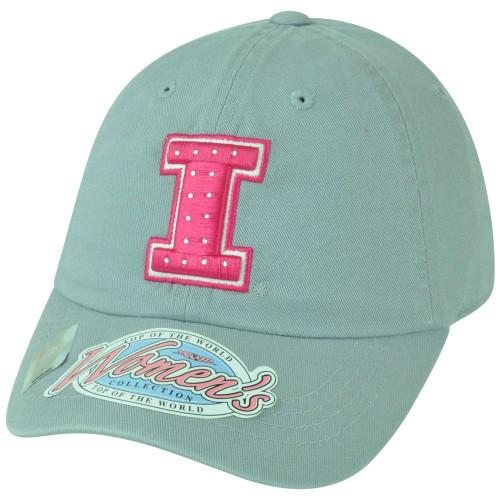 NCAA Illinois Fighting Illini Women Ladies Rhinestone Bedazzled Bling Hat Cap