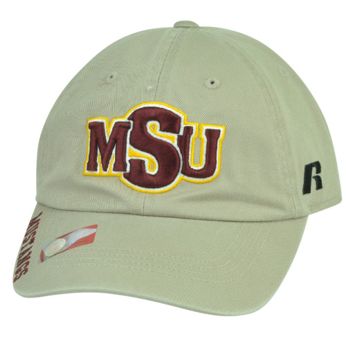 cheap for discount bd987 a5fdd NCAA Midwestern State Mustangs Russell Garment Wash Relax Hat Cap Sun Buckle  MSU