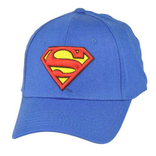 DC Comics Superman Flex Fix Large XLarge Stretch Cartoon Hat Cap Super Heroes
