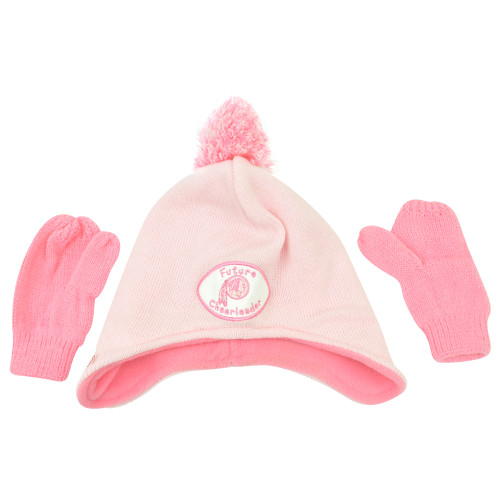 NFL Washington Redskins Mignon Future Cheerleader Knit Gloves Set Pink Toddler