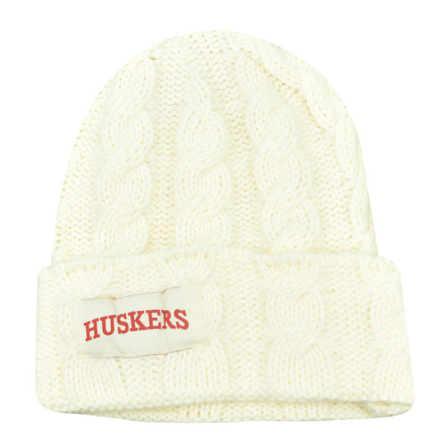 various colors d9c29 51bdc NCAA Nebraska Cornhuskers Huskers Kiera Women Ladies Cuffed Crochet Beanie  Knit