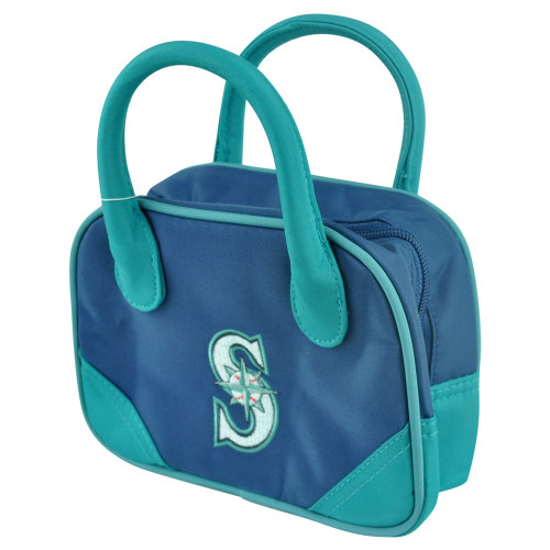 MLB Seattle Mariners Mini Bowler Hand Bag Two Tone Accessories Baseball Womens