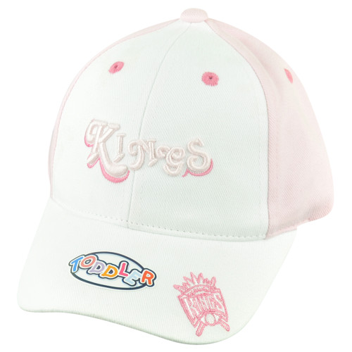 NBA Sacramento Kings Toddler Girl Velcro Pink 2Tone Adjustable Curved Bill Hat