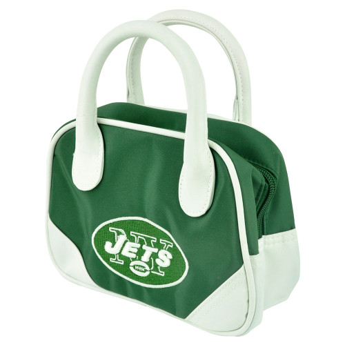 NFL New York Jets Mini Bowler Hand Bag Two Tone Accessories Football Womens