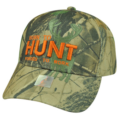 Born Hunt Forced To Work Camouflage Camo Velcro Outdoors