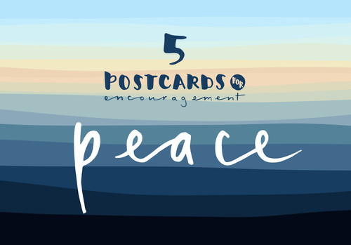5 Postcards [Peace] A pack of five A6 postcards [Greetings Card]