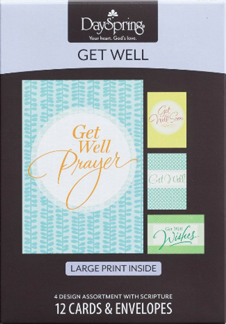 Get Well - God Bless You 12 Boxed Cards (KJV) [Greetings Card]