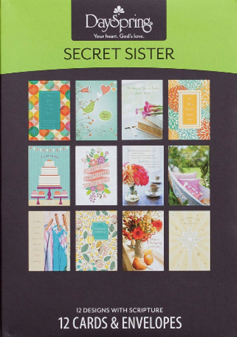 Secret Sister - Guess Who? 12 Boxed Cards, 12 Designs [Greetings Card]