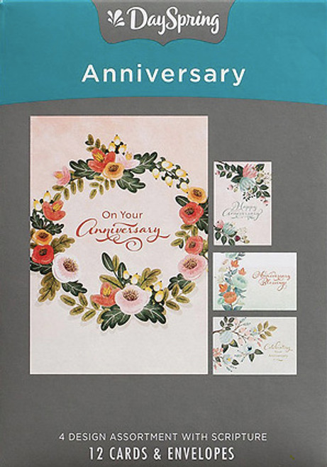 Anniversary - Celebrating Your Anniversary 12 Boxed Cards (KJV) [Greetings Card]