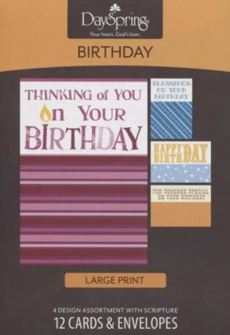 Birthday - Inspirational - Large Print (12 Boxed Cards) [Greetings Card]