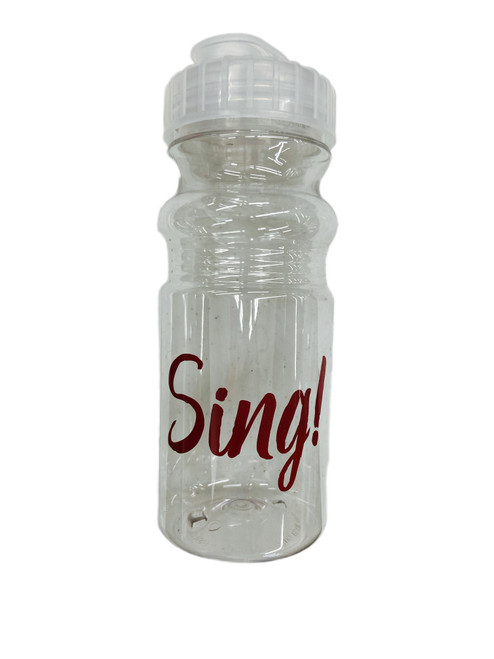 Sing! Water Bottle Clear, 20oz [Other]