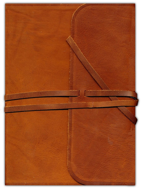 ESV Single Column Journaling Bible Large Print Natural Leather Brown Flap with Strap ESV [Leather]