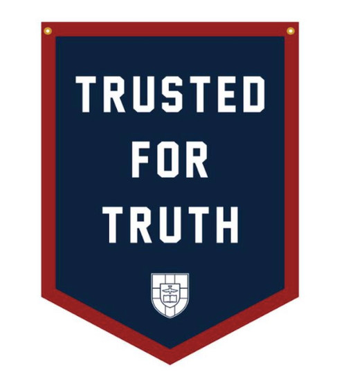 """Trusted for Trust Camp Flag (Navy and Red) 18"""" x 24"""" [Other]"""