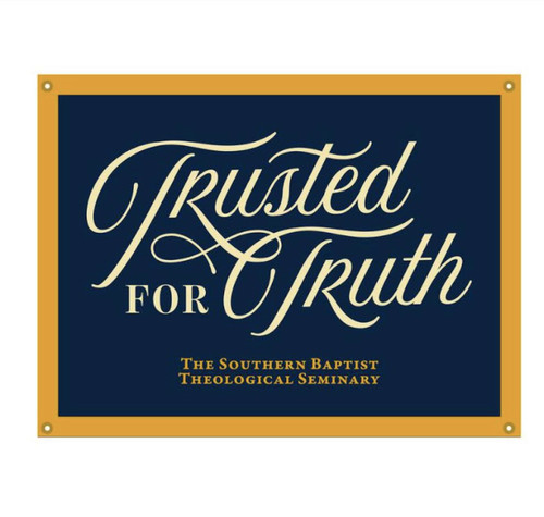 """Trusted for Trust Camp Flag (Navy and Gold) 18"""" x 24"""" [Other]"""