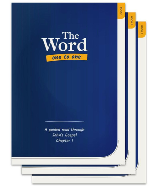 The Word One to One Starter Bundle 2 copies of Books 1 - 3 (John chapters 1 - 4) [Pack]