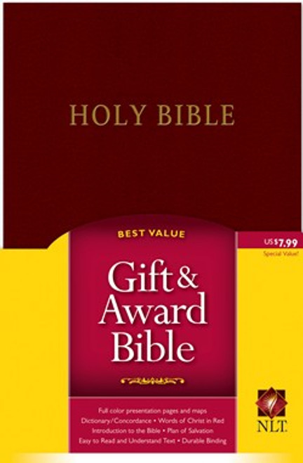 Gift and Award Bible NLT, Burgundy [Leather]