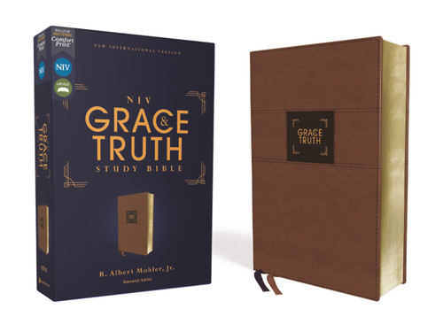 NIV Grace and Truth Study Bible Leathersoft, Brown, Red Letter, Comfort Print [Leather]
