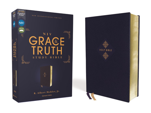 NIV Grace and Truth Study Bible Leathersoft, Navy, Red Letter, Comfort Print [Leather]