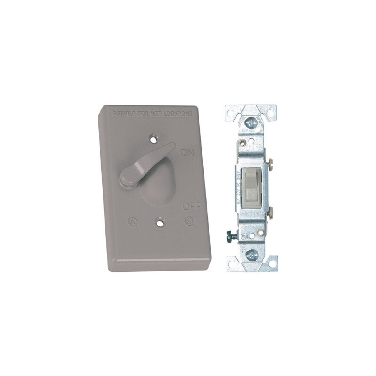 Sigma Electric 14249 1-Gang Horizontal all-weather GFCI outlet Covers Gray 3