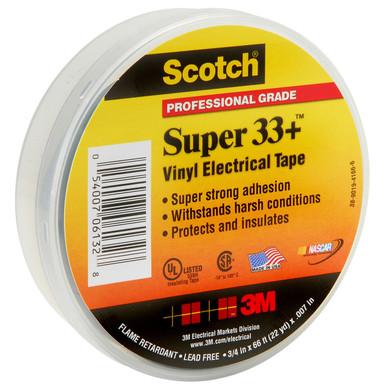 """3M Scotch 33 Super Vinyl Electrical Tape 3//4/"""" X 66Ft 06132"""