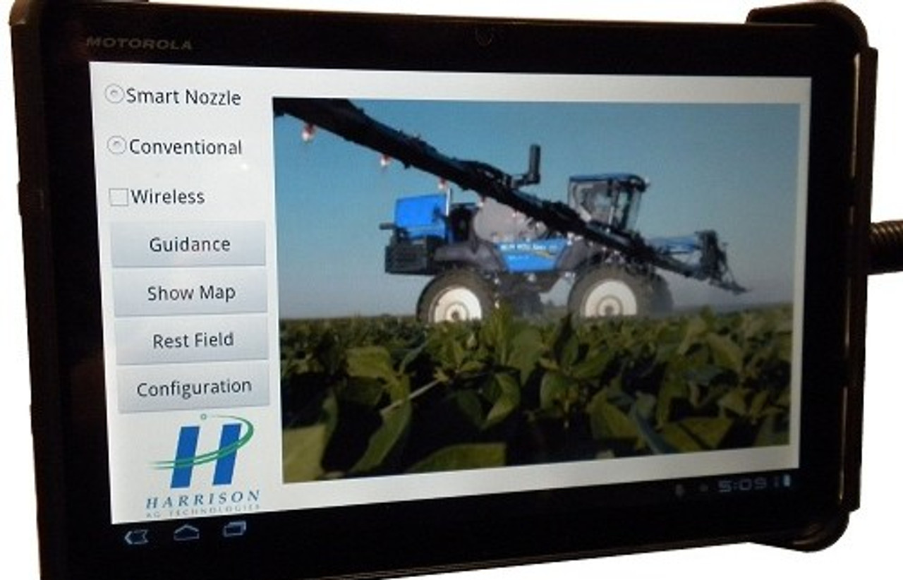 Android Tablet with Harrison Ag Technology App