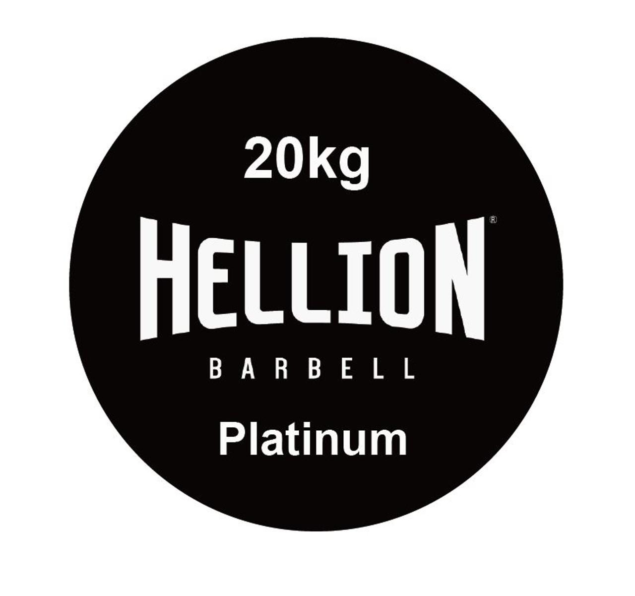 Hellion Platinum Men's Needle Bearing Olympic Barbell (1,500lbs / 180,000PSI) - Chrome (Hellion Platinum 20 - Chrome)