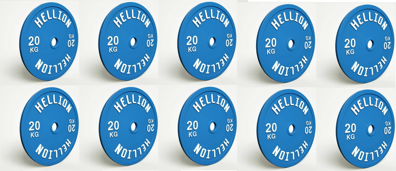 HELLION Calibrated Powerlifting Plate - 200kg (10 PACK) (HELLION Calibrated Powerlifting Plate - 200kg (10 PACK) )