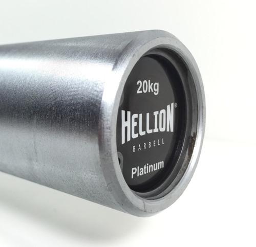 Hellion Platinum Men's Needle Bearing Olympic Barbell (1,500lbs / 180,000PSI) - Chrome