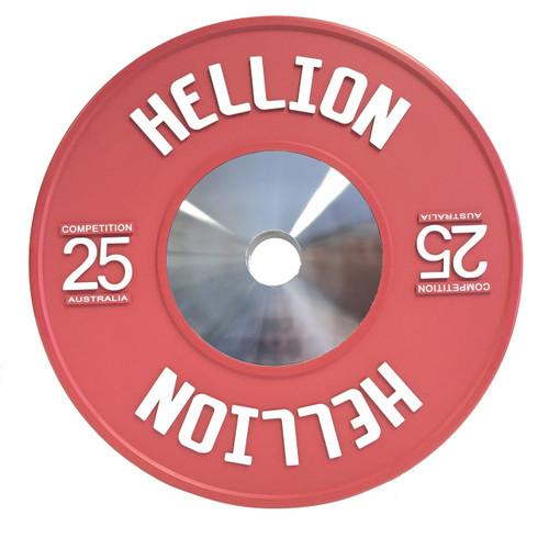 Hellion Elite Competition Bumper Plate V2.0 Raised Logo - 25kg (PAIR)