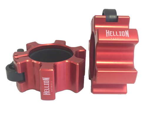 Hellion Red Pro Series original OSO barbell collars